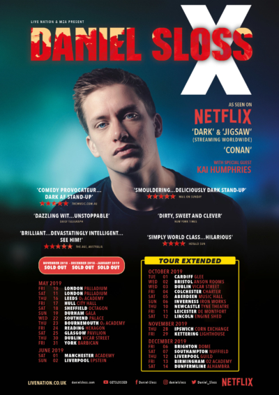 2019 Tour Daniel Sloss UK Tour Poster